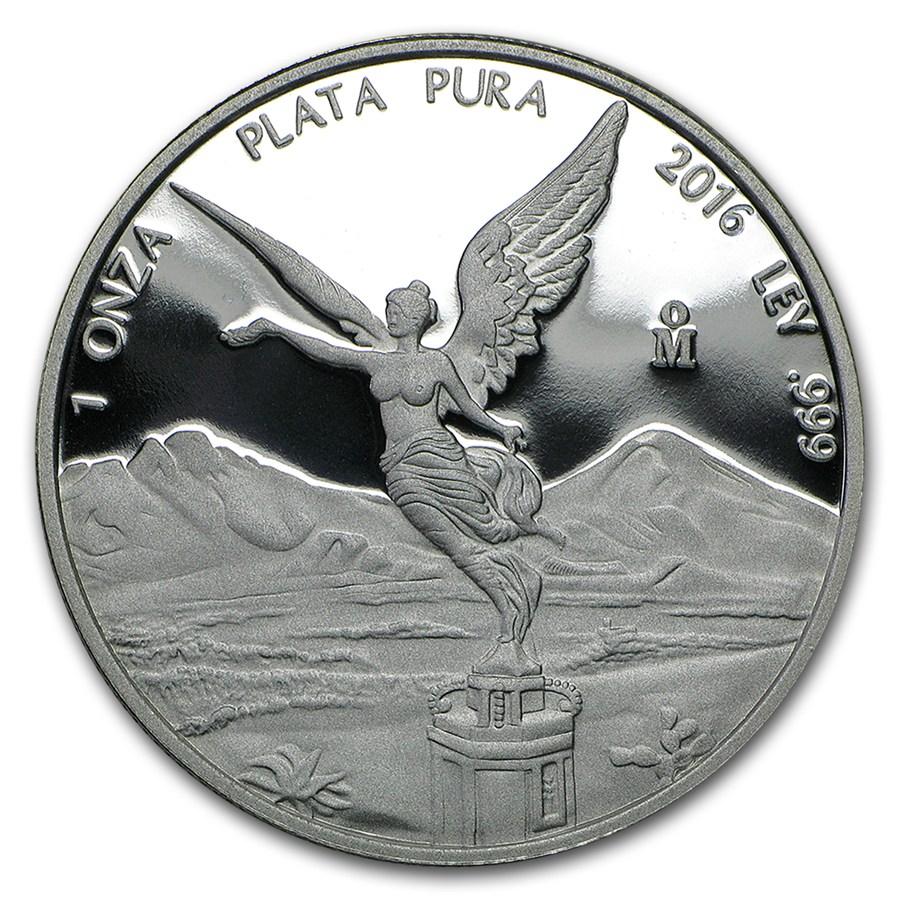 2016 Silver Libertad Proof Coin Mexican 1 Oz Silver