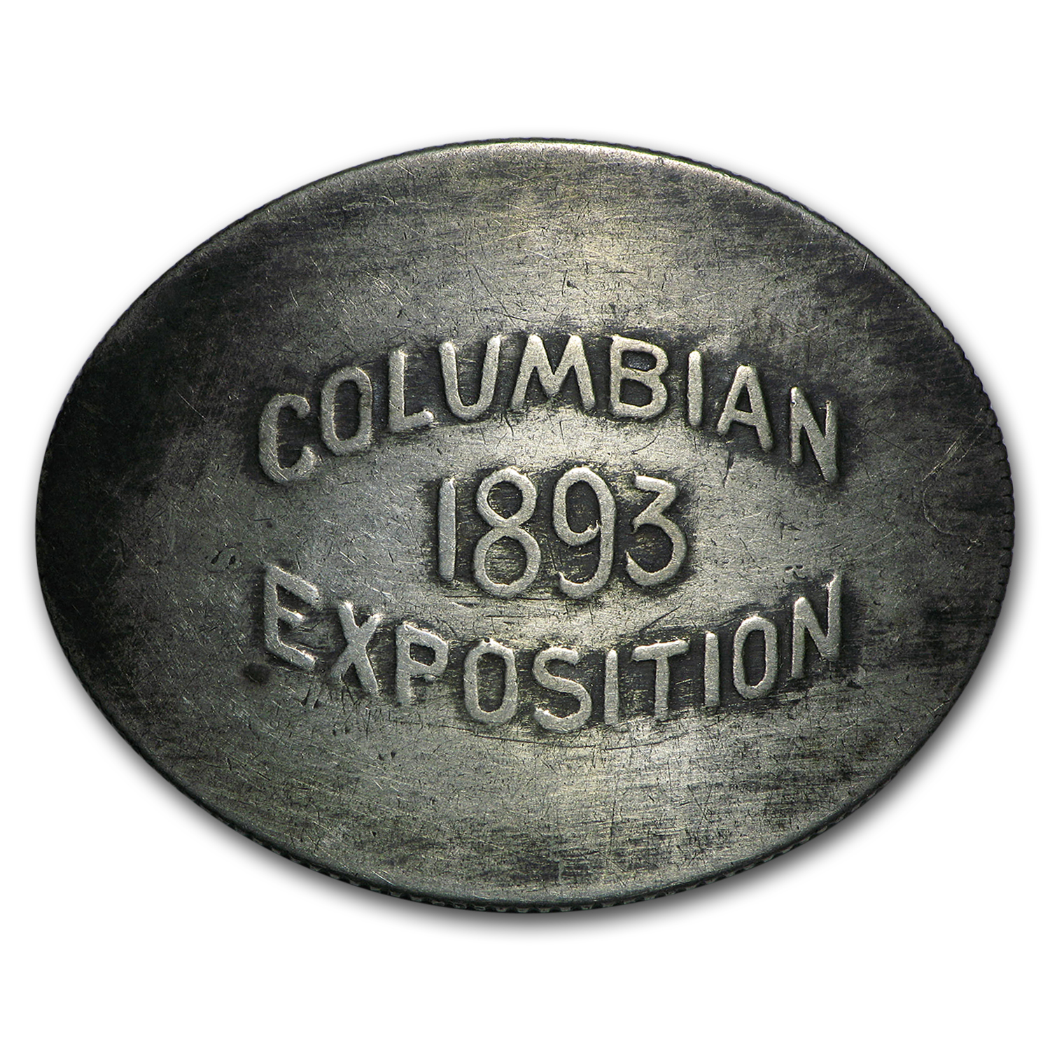 1893 Columbian Expo Elongate (Host Coin - 1883 Seated Dime)