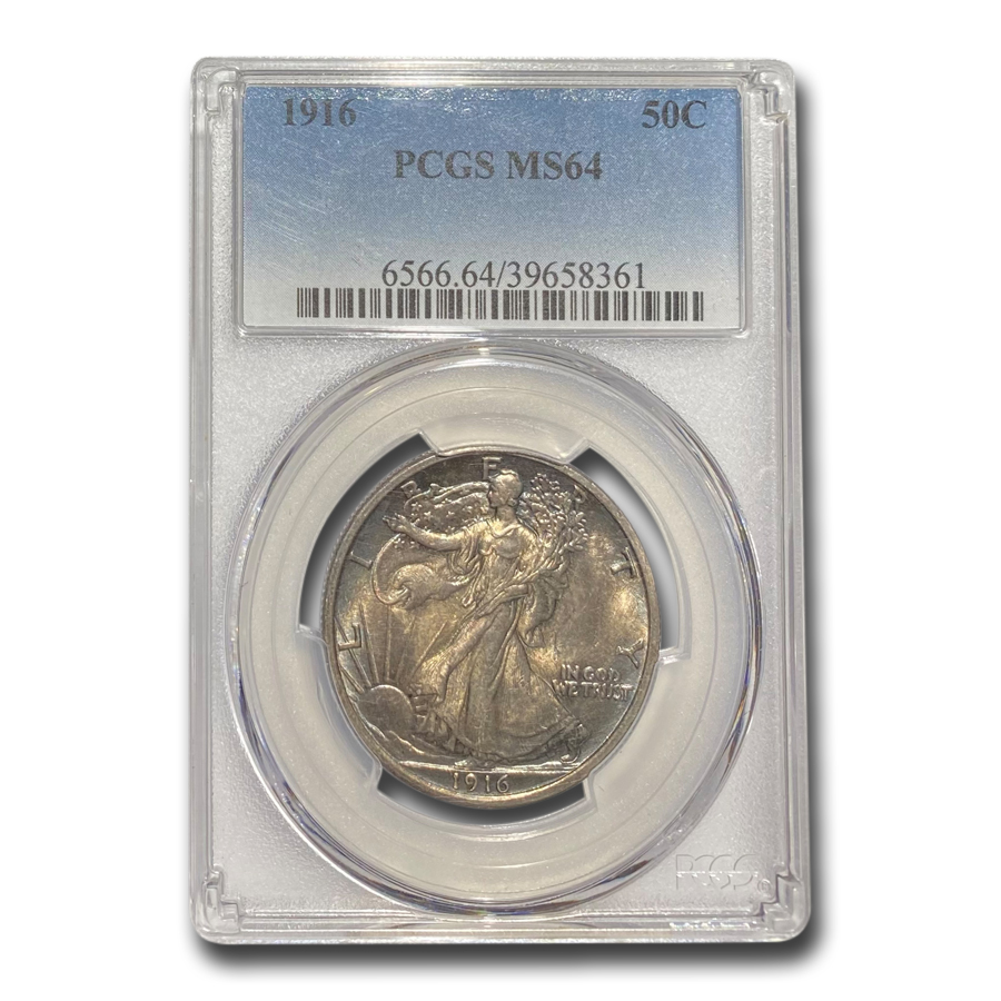 1916 Walking Liberty Half Dollar MS-64 PCGS