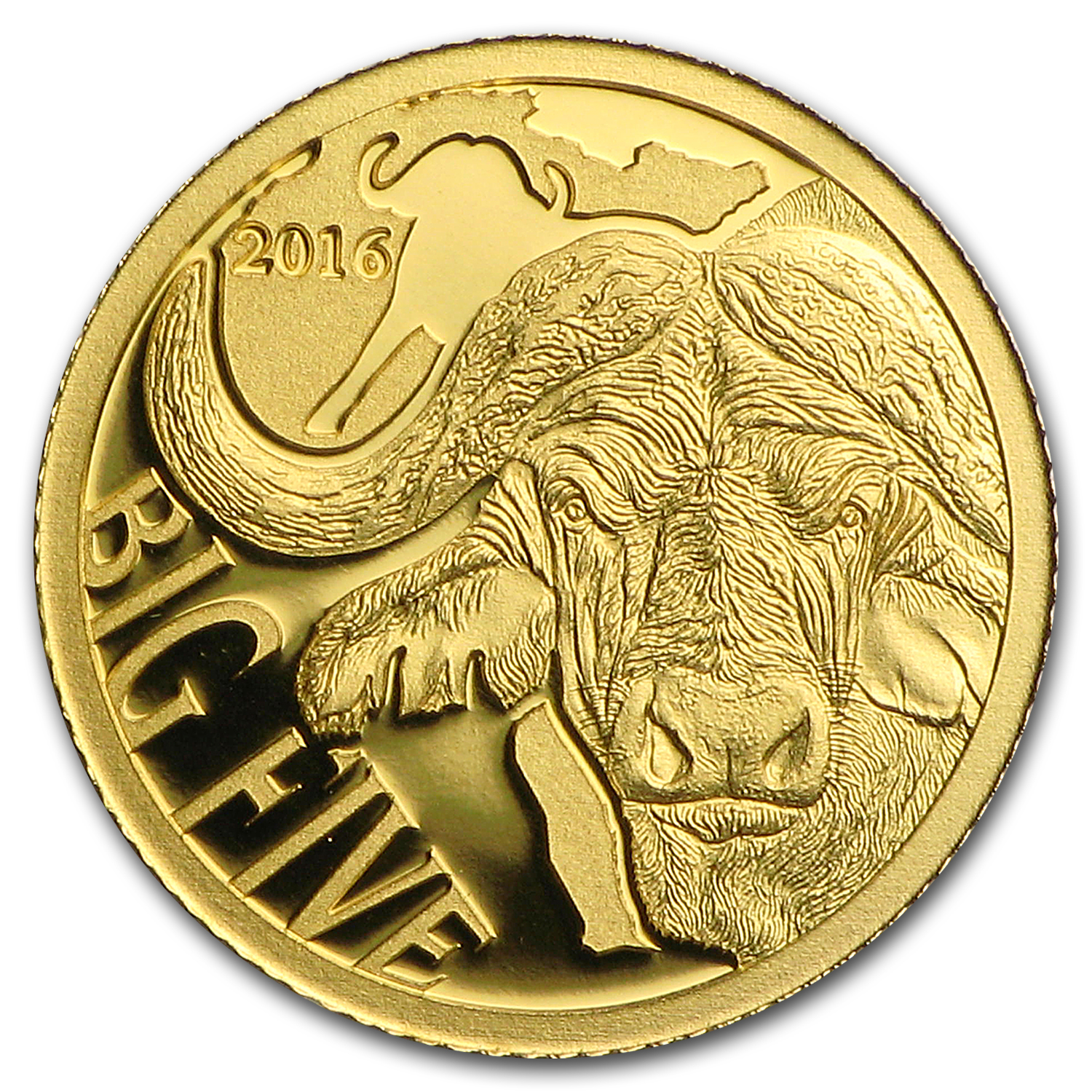 2016 Cameroon 1/2 gram Gold Buffalo Proof (The Big Five)