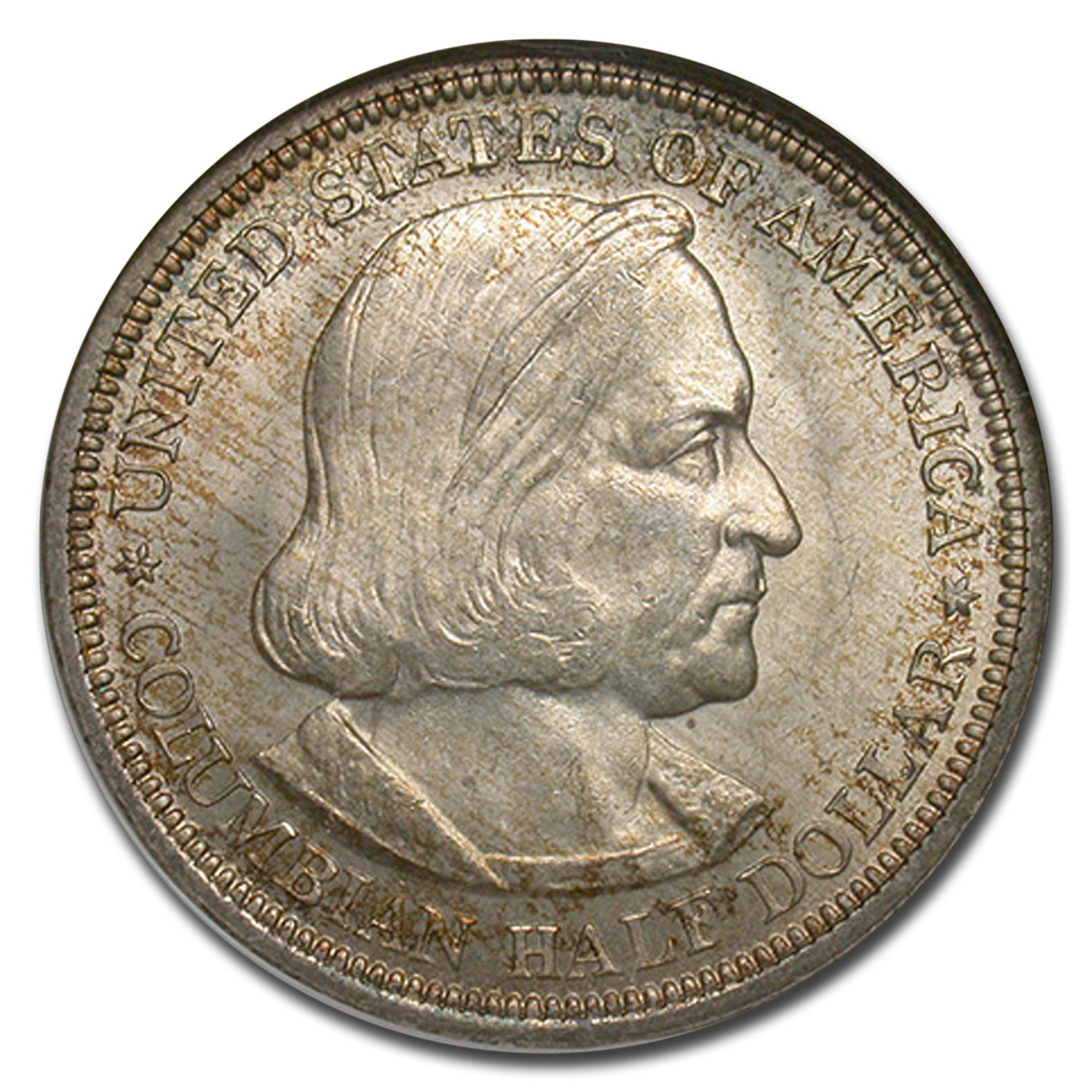 1892 Columbian Expo Half Dollar MS-64 NGC CAC (Toned)