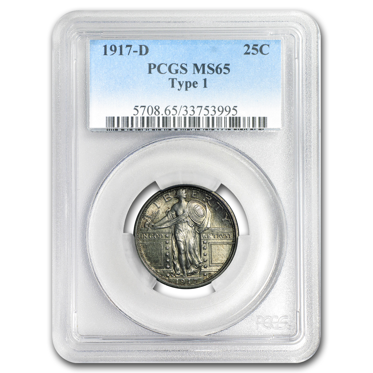 1917-D Standing Liberty Quarter Type-I MS-65 PCGS