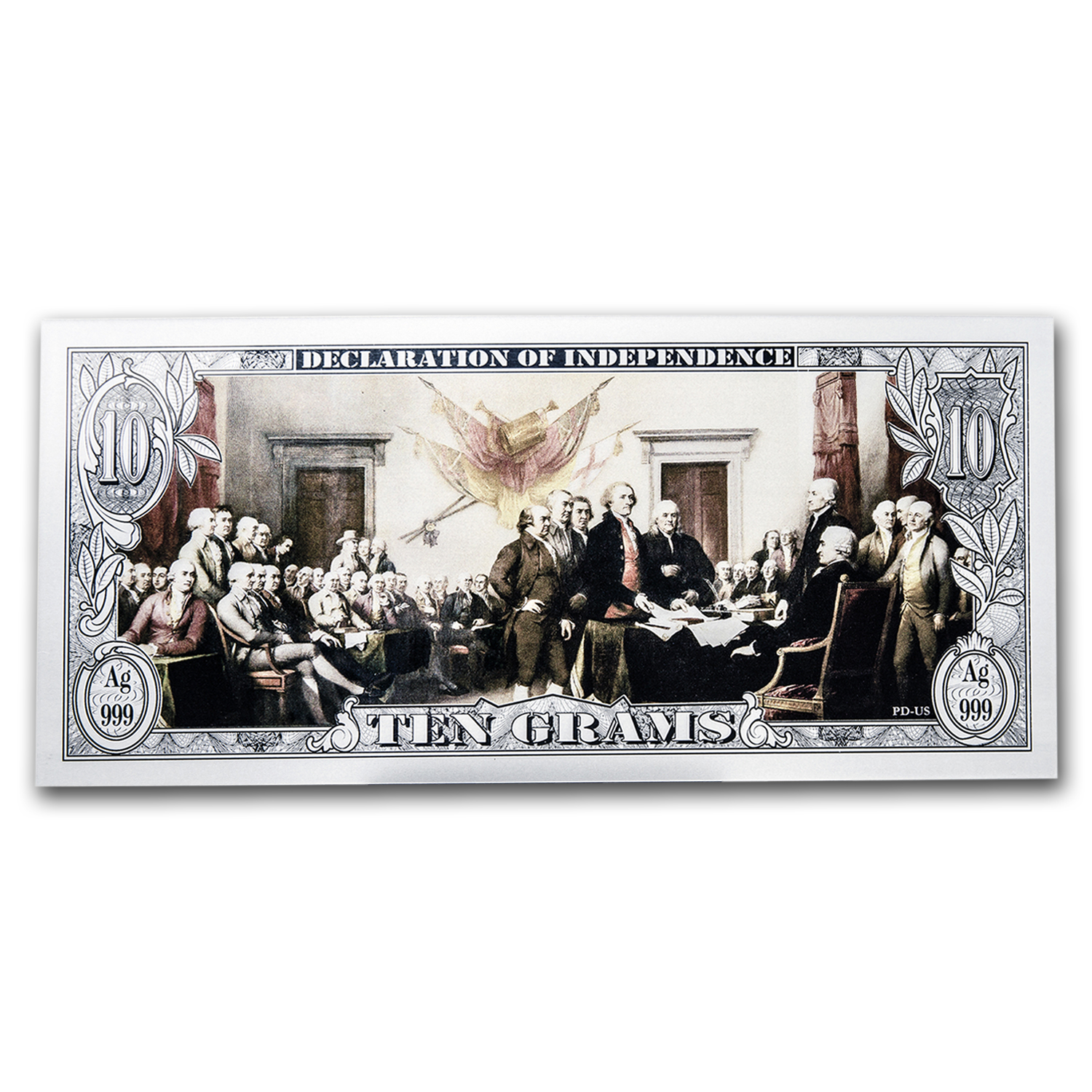 10 gram Silver American Note Bar - Washington