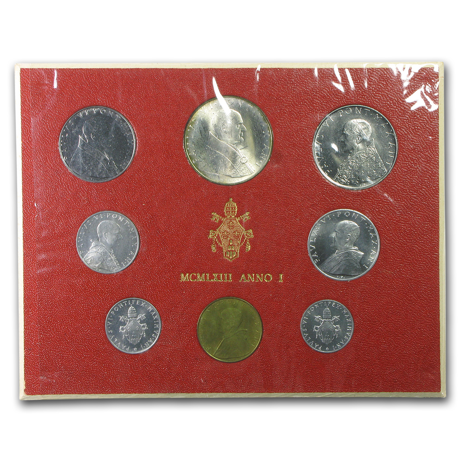 1963 Vatican City 1-500 Lire Mint Set Paul VI BU