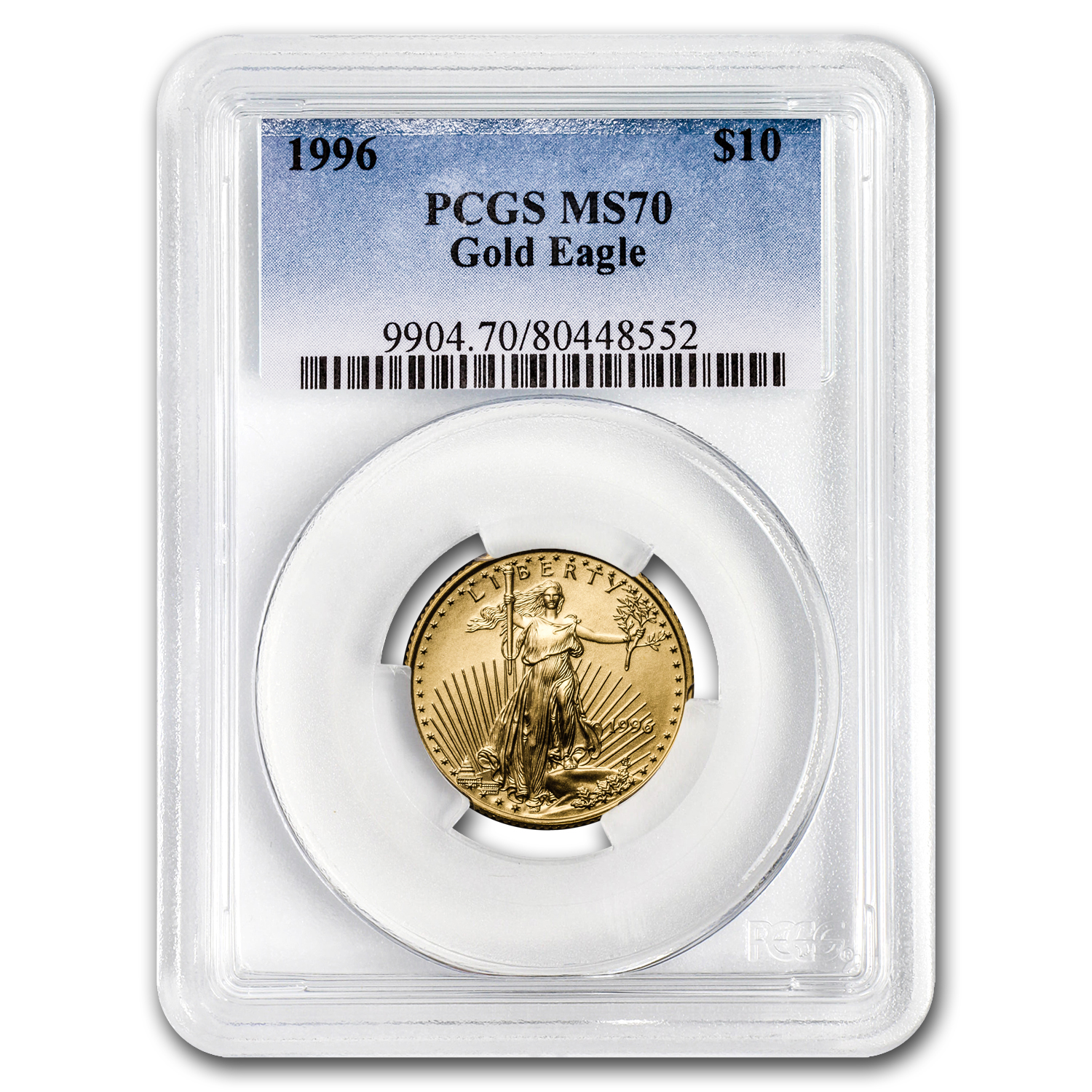 1996 1/4 oz Gold American Eagle MS-70 PCGS (Registry Set)