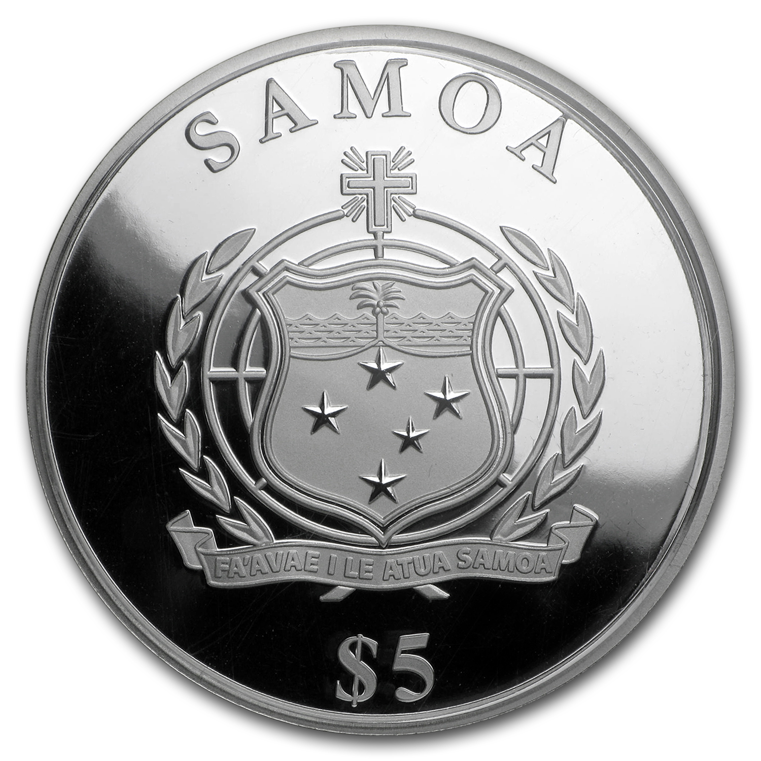 2016 Samoa 1 oz Silver $5 Four Leaf Clover Proof