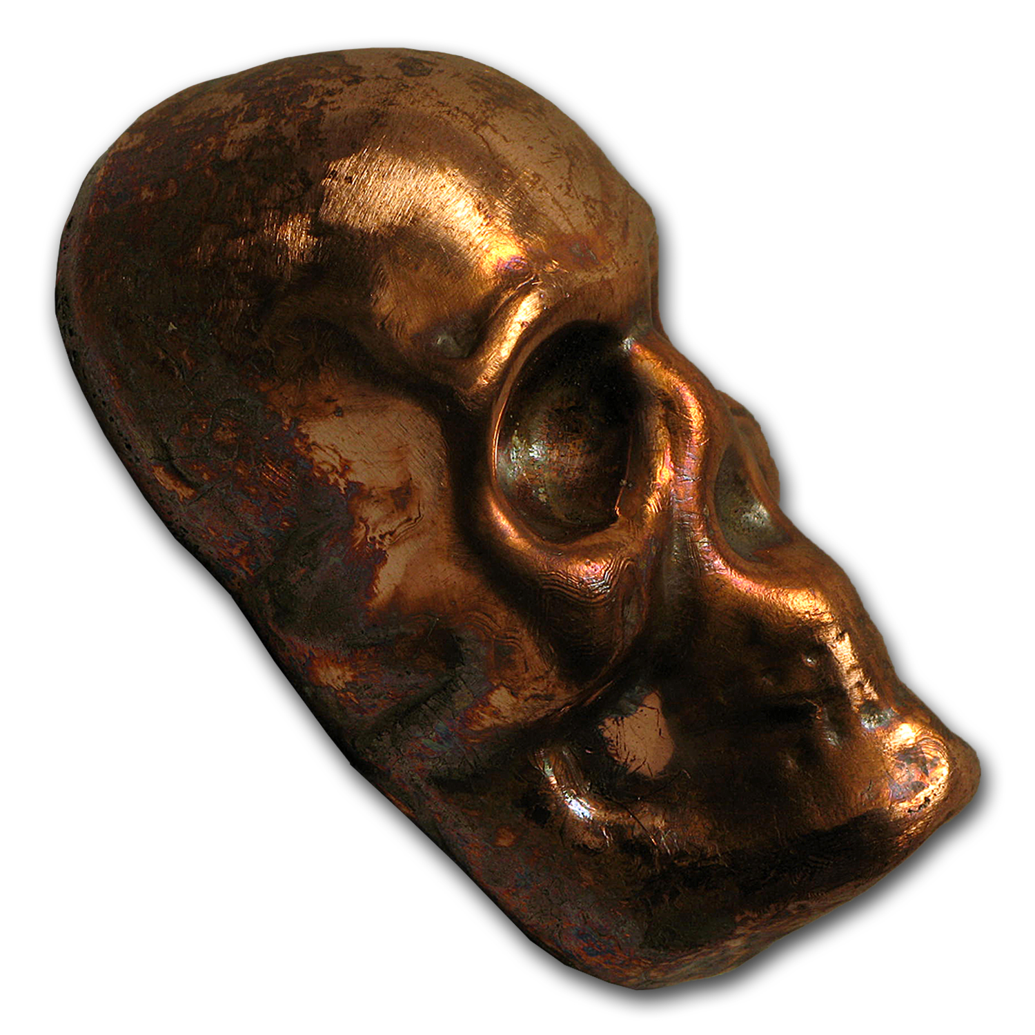 4 oz Copper Skull - MK Barz & Bullion (Poured)