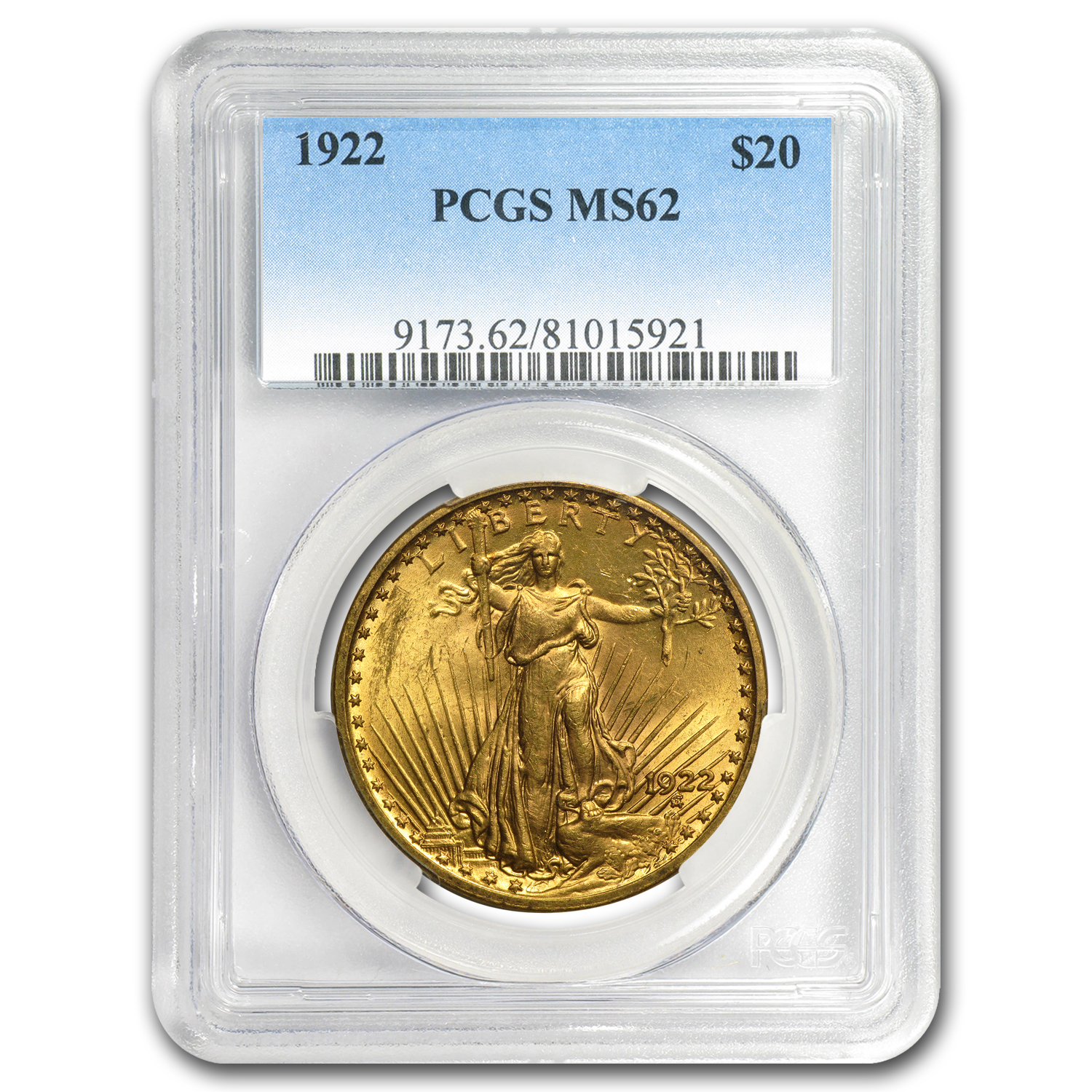 7-Coin $20 Saint-Gaudens Gold Double Eagle Date Set MS-62 PCGS