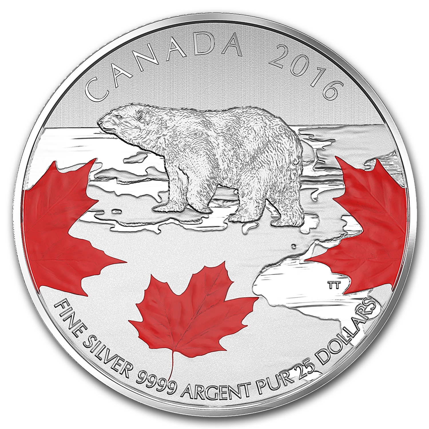2016 Canada 1/4 oz Silver $25 True North