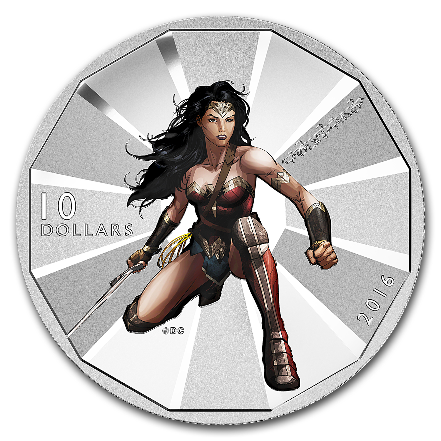 2016 Canada 1/2 oz Silver $10 Batman v Superman: Wonder Woman