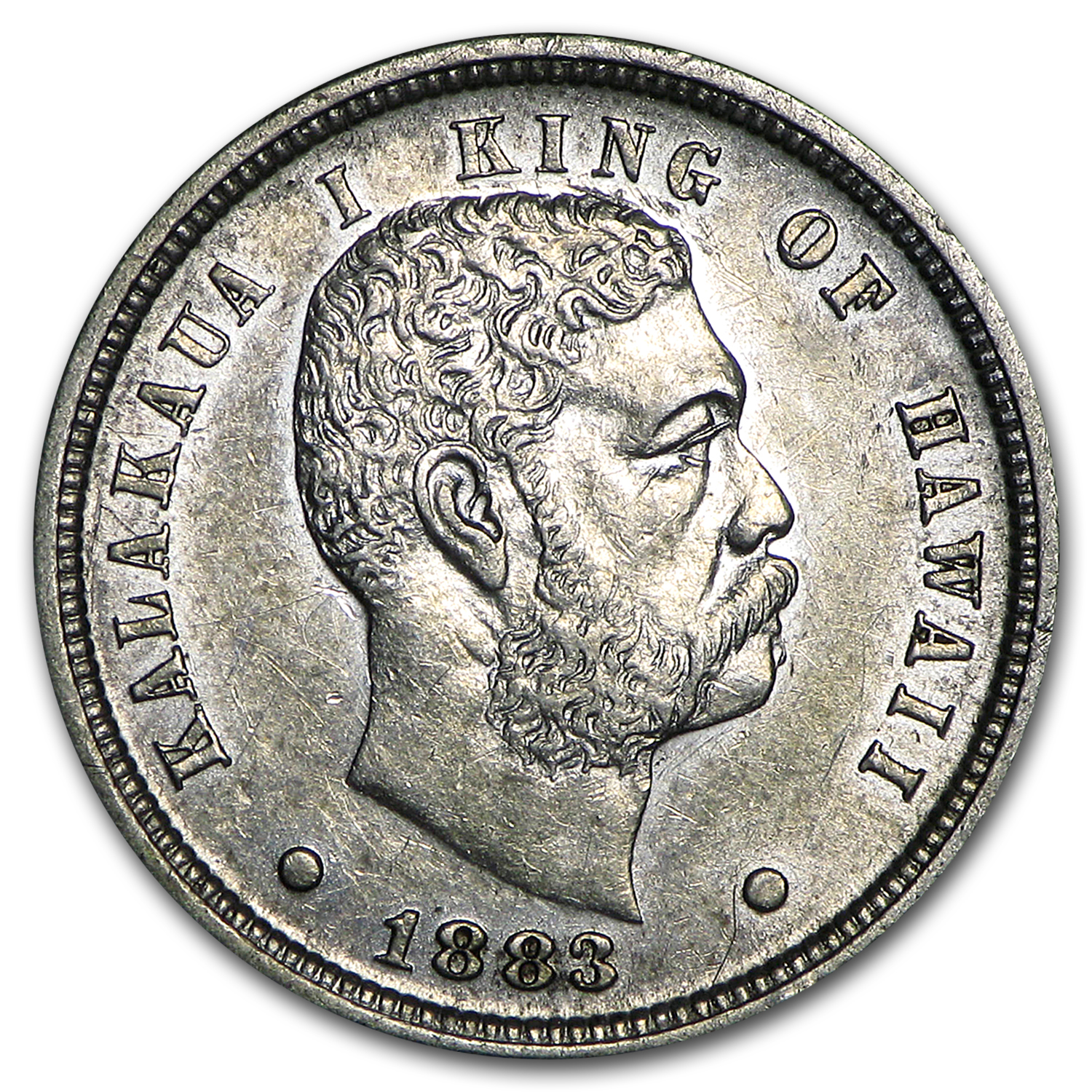 1883 Hawaii Ten Cents AU
