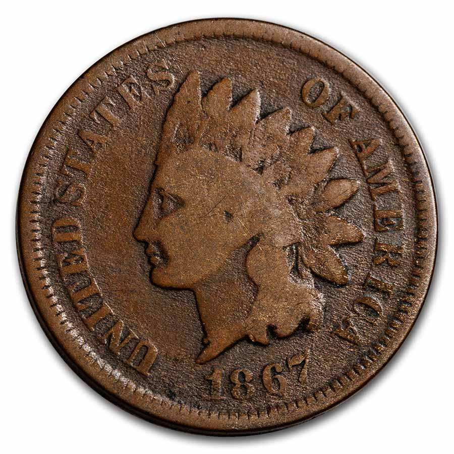 1867 Indian Head Cent Good