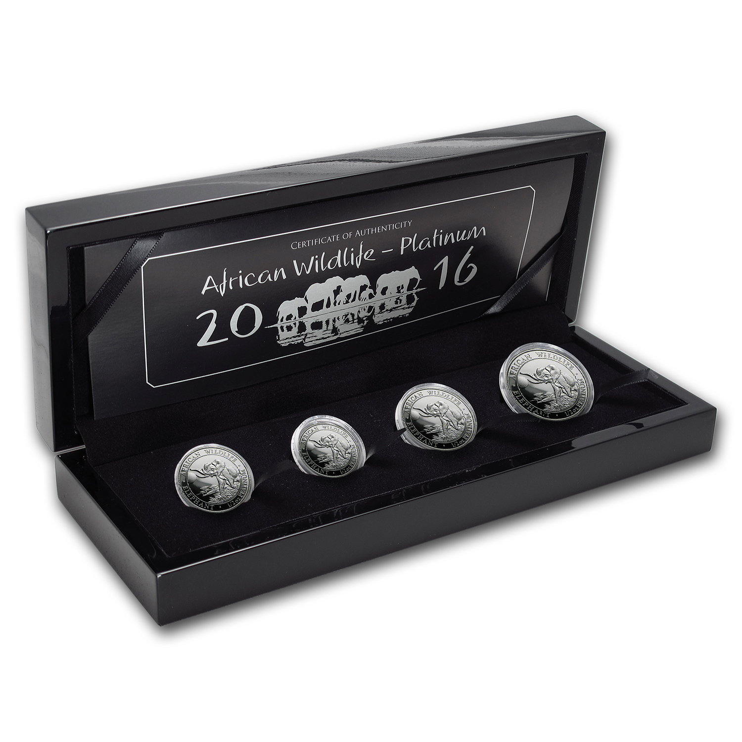 2016 Somalia 4-Coin Platinum Elephant Proof Set