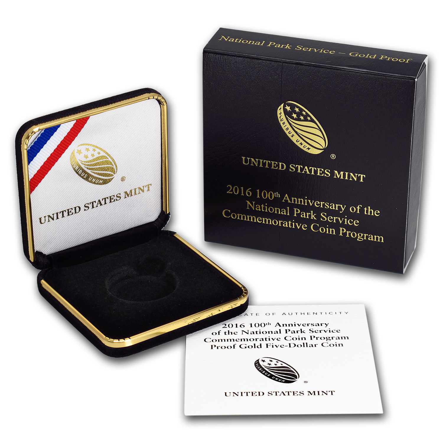 OGP Box & COA - 100th Anniv National Park Service PF Gold (2016)