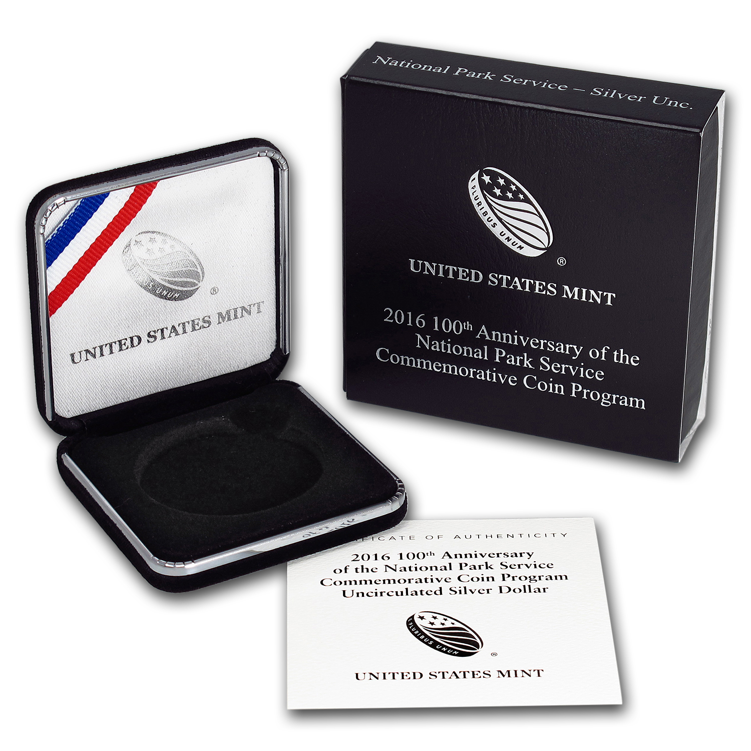 OGP Box & COA - 2016 100th Anniv National Park Service BU Silver