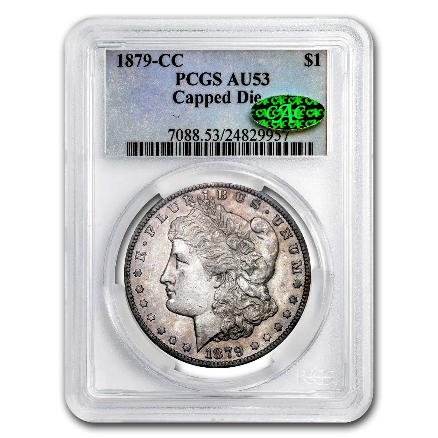 1879-CC Morgan Dollar AU-53 PCGS CAC (Capped Die)