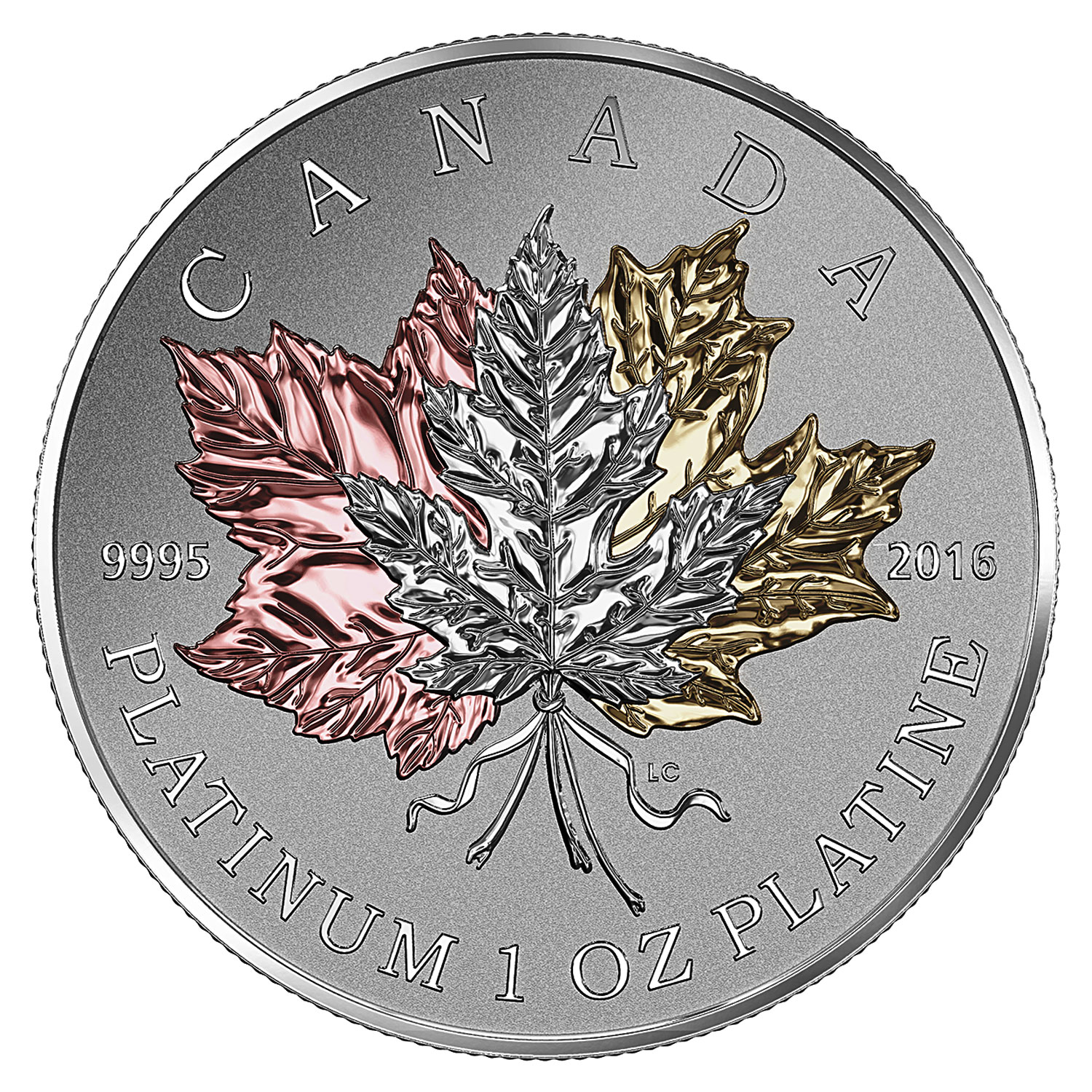 2016 Canada 1 oz Proof Platinum $300 Maple Leaf Forever