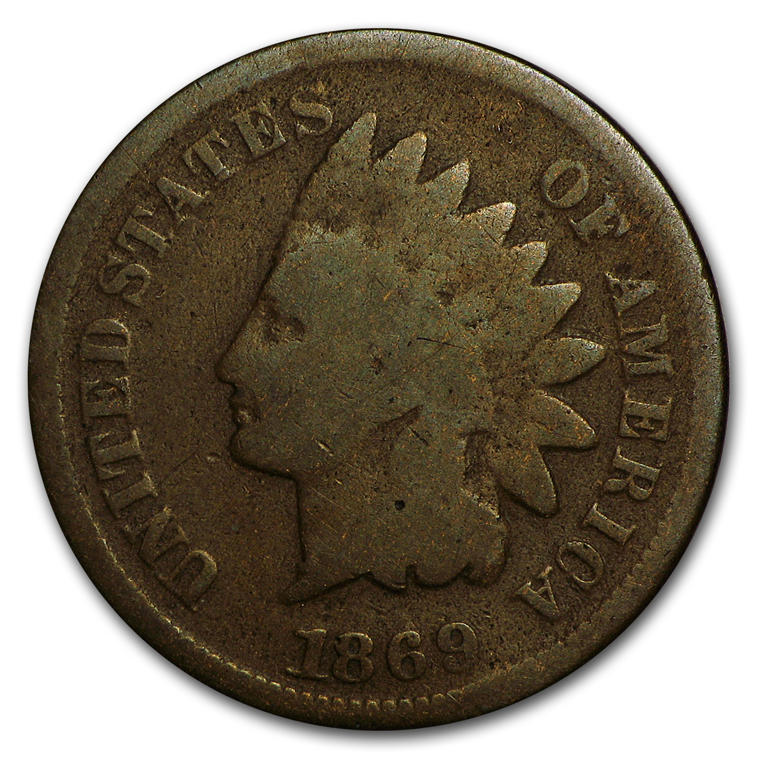1869 Indian Head Cent Good