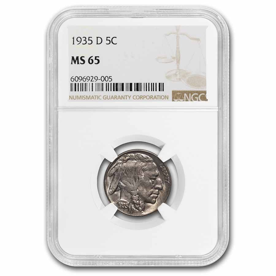 1935-D Buffalo Nickel MS-65 NGC