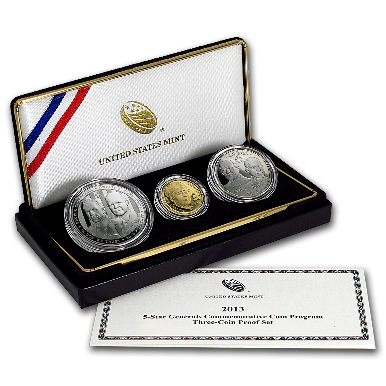 2013 3-Coin Commem Five Star General Proof Set (w/Box & COA)