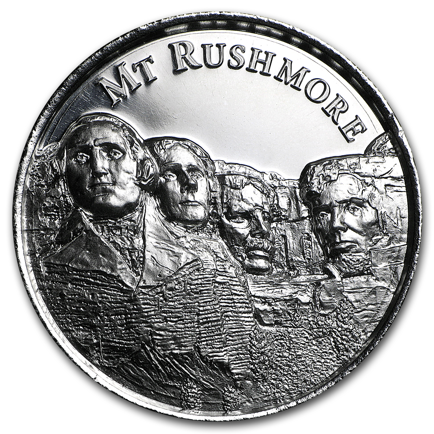 2 oz Silver Round - Mount Rushmore (Ultra High Relief)
