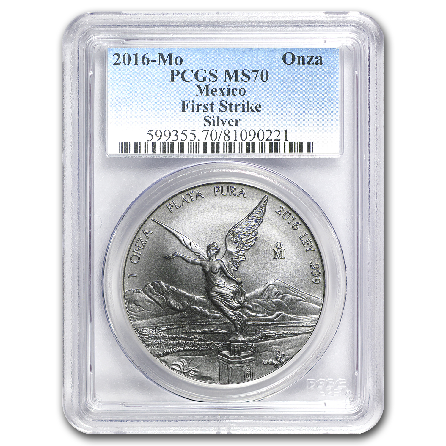 2016 Mexico 1 oz Silver Libertad MS-70 PCGS (First Strike)