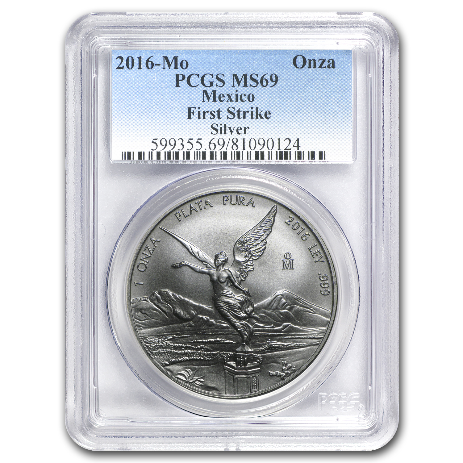 2016 Mexico 1 oz Silver Libertad MS-69 PCGS (First Strike)