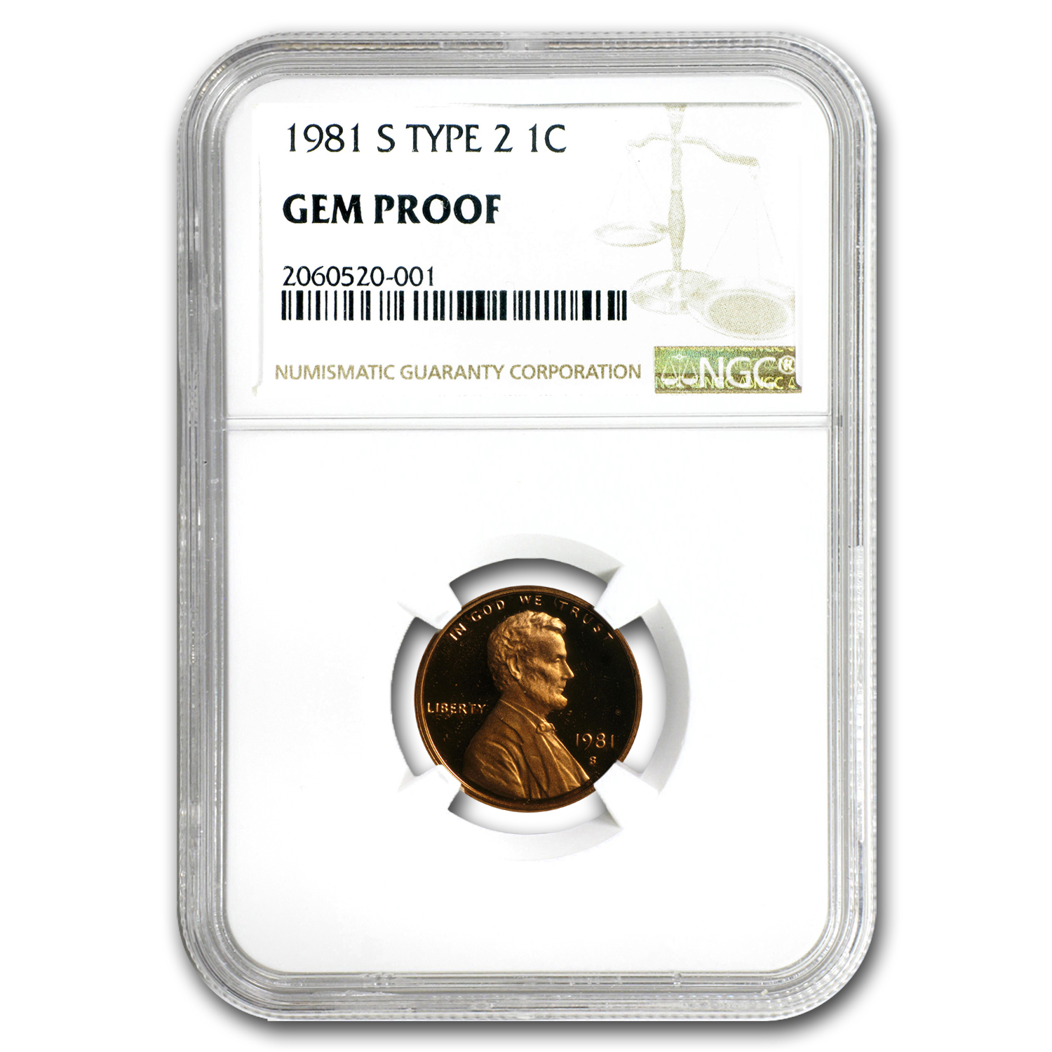 1981 U.S. Proof Set Gem Proof NGC (Type 2, Individual Slabs)