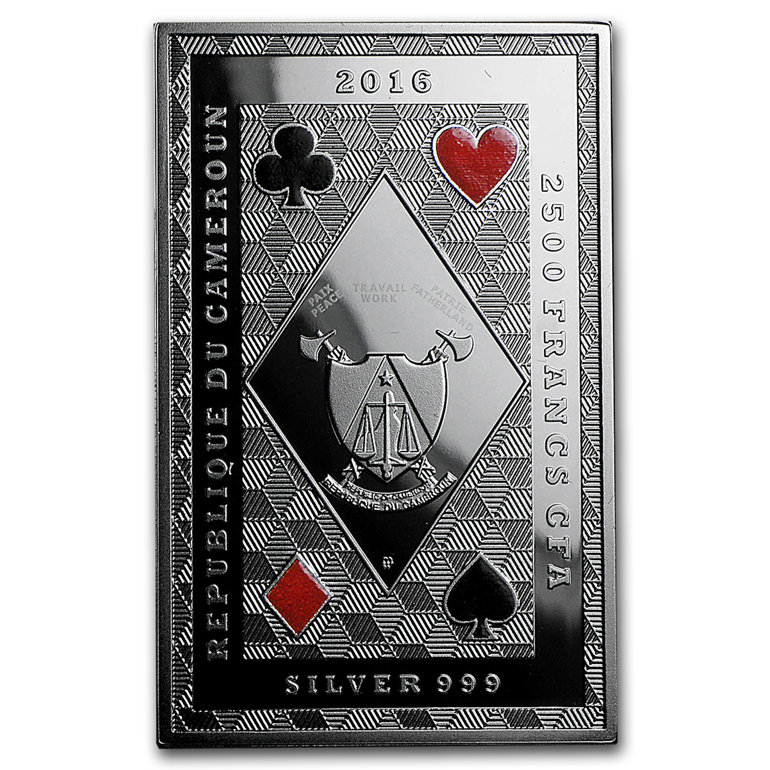 2016 Republic of Cameroon Royal Poker (Jack of Clubs)