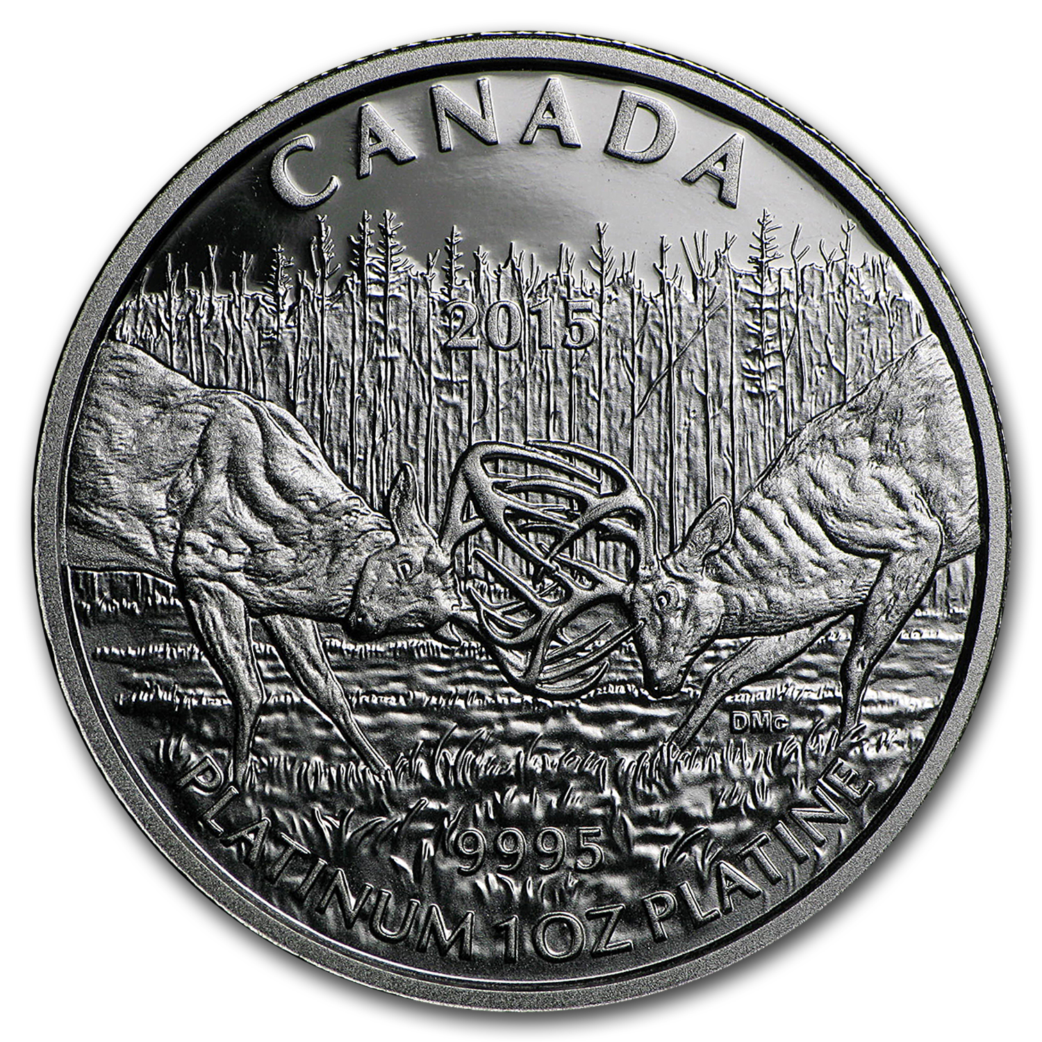2015 Canada 1 oz Pf Platinum $300 White-Tailed Deer (Coin Only)