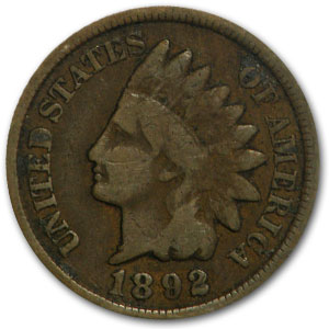 1892 Indian Head Cent Good+