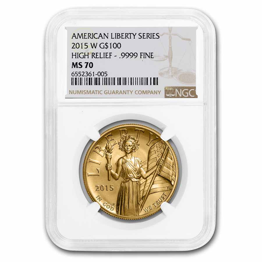 2015 High Relief American Liberty Gold MS-70 NGC
