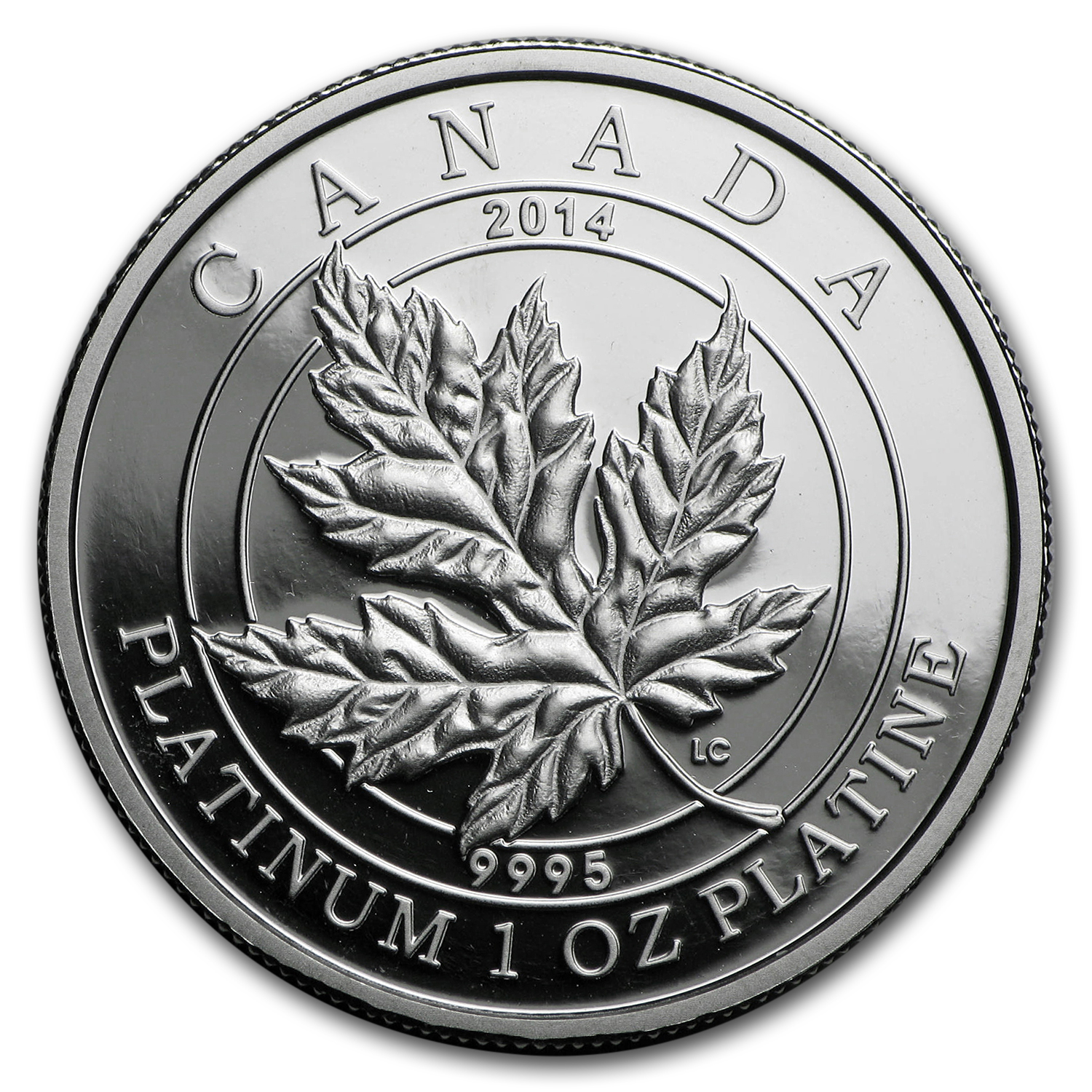 2014 Canada 1 oz Pf Platinum $300 Maple Leaf Forever (Coin Only)