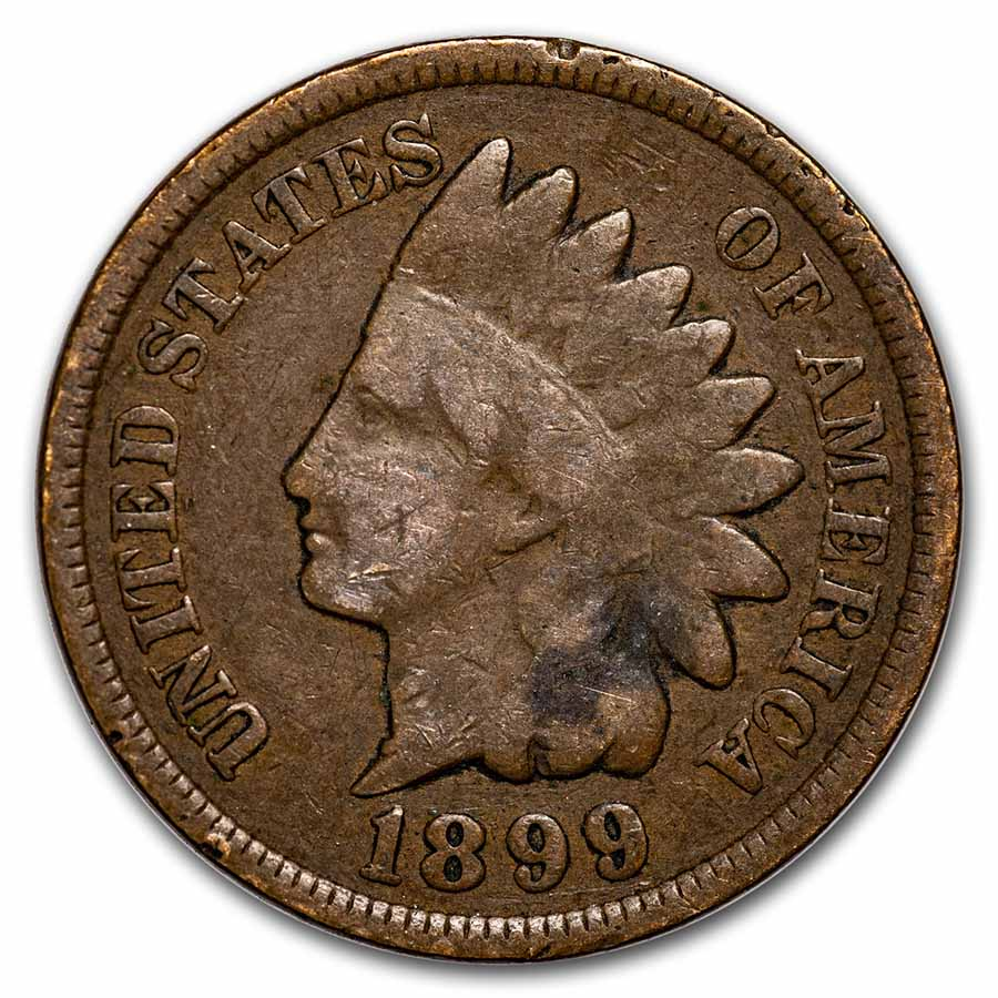1899 Indian Head Cent Good+