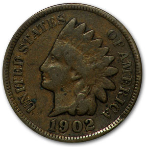 1902 Indian Head Cent Good+