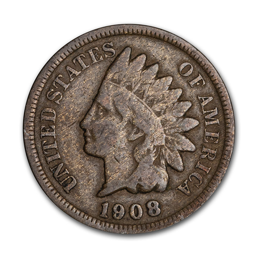 1908 Indian Head Cent Good+