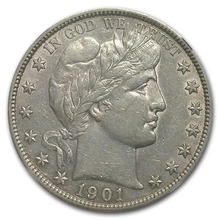 1901-S Barber Half Dollar XF-45 NGC
