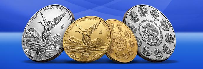 Gold libertad coins