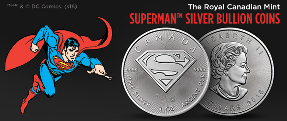 the royal canadian mint Silver superman bullion coins