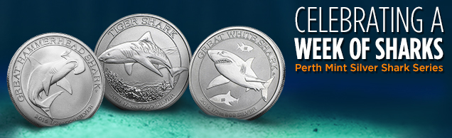 perth mint Silver shark series