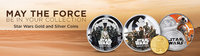 Star Wars Gold and Silver Coins