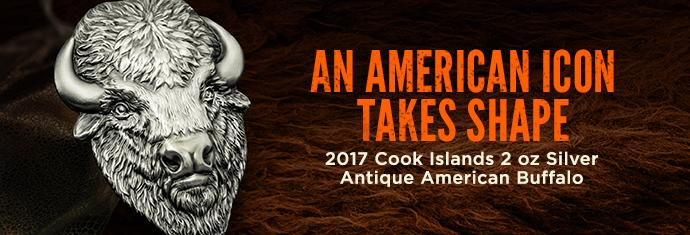 2017 Cook Islands Silver Antique American Buffalo