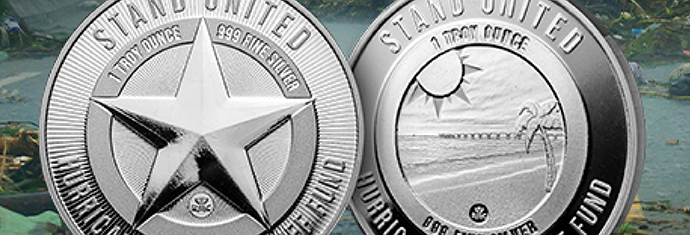 Red Cross Hurricane Relief Silver Rounds