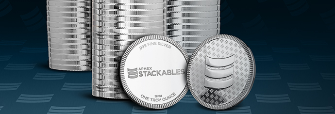 APMEX Stackable Silver Rounds