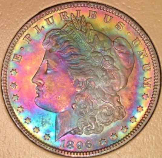 Artificially Toned Morgan Silver Dollar