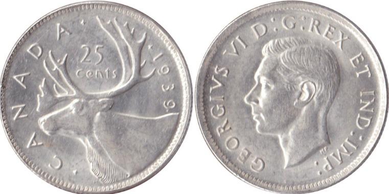 1939 canadian quarter