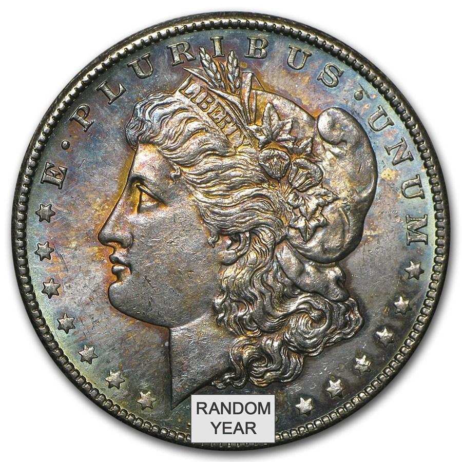 Toned Morgan Silver Dollar