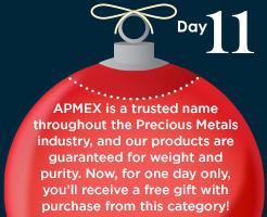 APMEX products w/free APMEX promotional item