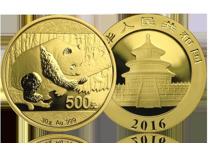 2016 China 30 gram Gold Panda