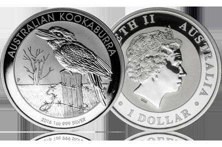 2016 Australia 1 oz Silver Kookaburra